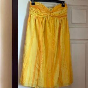 Yellow Strapless Dress - Size 0